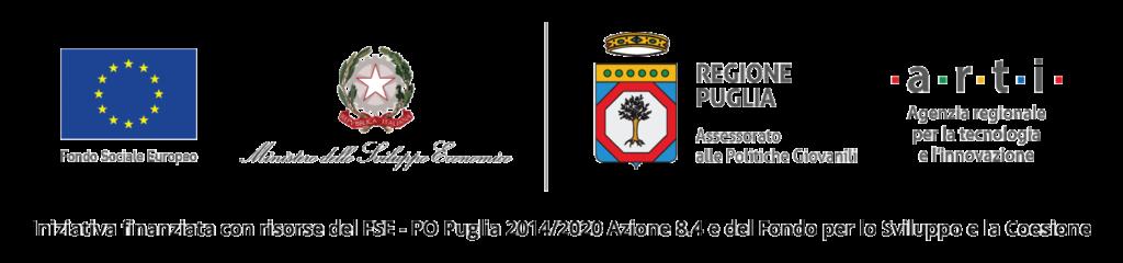 Iniziativa finanziata con risorse del FSE - PO Puglia 2014/2020 Azione 8.4 e del Fondo per lo Sviluppo e la Coesione